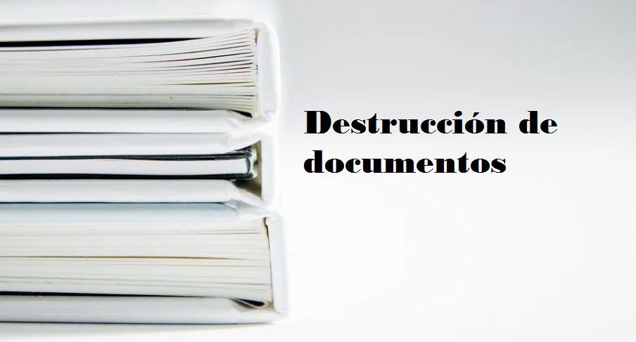 destrucción de documentos Logroño