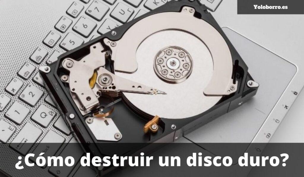 ¿Cómo destruir un disco duro?