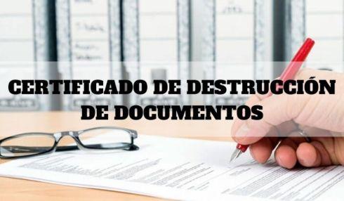 Elementos que conforman un certificado de destrucción de documentos